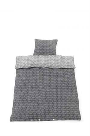 Image of Smallstuff sengetøj, baby, Traktor - grå (kologisk---graat-traktor-baby-sengetoej-fra-smalls)