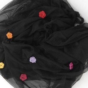 Image of   SmallStuff insektnet med hæklede blomster, pige