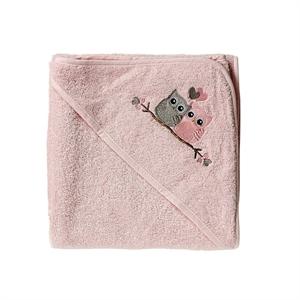 Image of   Baby Dan, Love Birds badehåndklæde, rosa