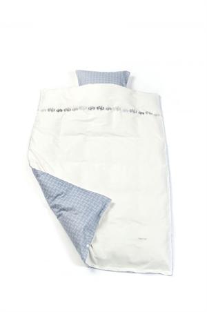 Image of Smallstuff sengetøj, junior, Traktor - blå (blaat-traktor-junior-sengetoej-fra-smallstuff-fit-)