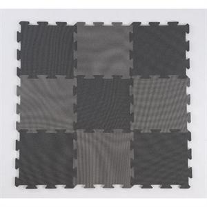 Image of Basson skumpuslebrikker, 9 stk., 30 x 30 cm., sort/grå