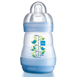 MAM First Bottle 160 ml. sutteflaske, BPA fri, 80% mindre kolik! Dreng