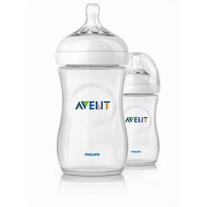 Image of Avent sutteflasker PP 260 ml., BPA fri, Natural, 2 pak