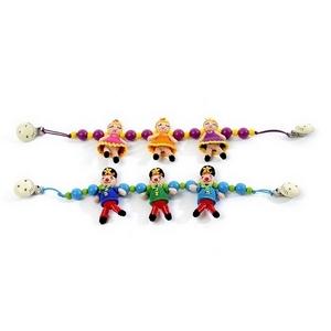 Image of   Smallstuff barnevognskæde, hæklet, klovn eller ballerina