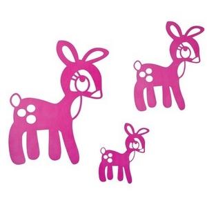 Pink bambi wallstickers, Sebra thumbnail