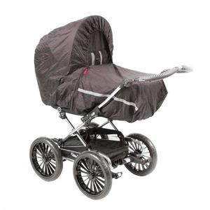 Dania budget regnslag til barnevogn med myggenet, sort
