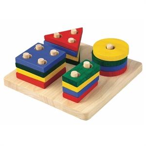 Image of   Geometri sorteringsbord, PlanToys