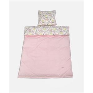 Junior sengetøj med dyr, rosa, Smallstuff
