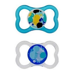 MAM Air Silk Teat sut 6 mdr.+, BPA fri, 2 stk., dreng thumbnail