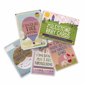 Image of   Milestone baby cards, 30 stk.