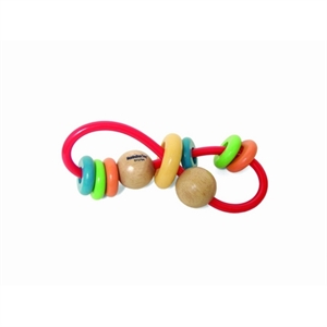Image of   Skwinkle Teether and Rattle Activity Clutching Toy, Manhattan Toy