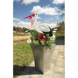 Image of Årets barselsgave, smuk stork 50 cm. (HFFB-111)